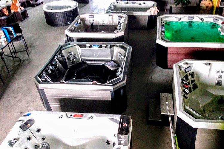 Hot Tub Sales showroom